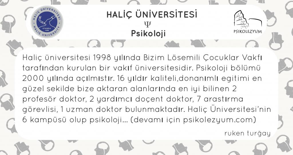 Halic Universitesi Psikoloji Bolumu Psikolezyum