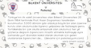 Bilkent Üniversites Psikoloji Bölümü, Bilkent Üniversitesi psikoloji puanları, bilkent psikoloji